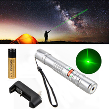 Promo offer High Power Green Laser Light 650nm 1mw Lazer Pointer Adjustable Focus Tactical Laser Pen Light +Rechargeab 18650 Battery+Charger