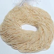Оптом свободные жемчужные украшения, семена AA 2,5-3 мм культивированный белый цвет пресноводный жемчуг свободные бусины, одна полная нить