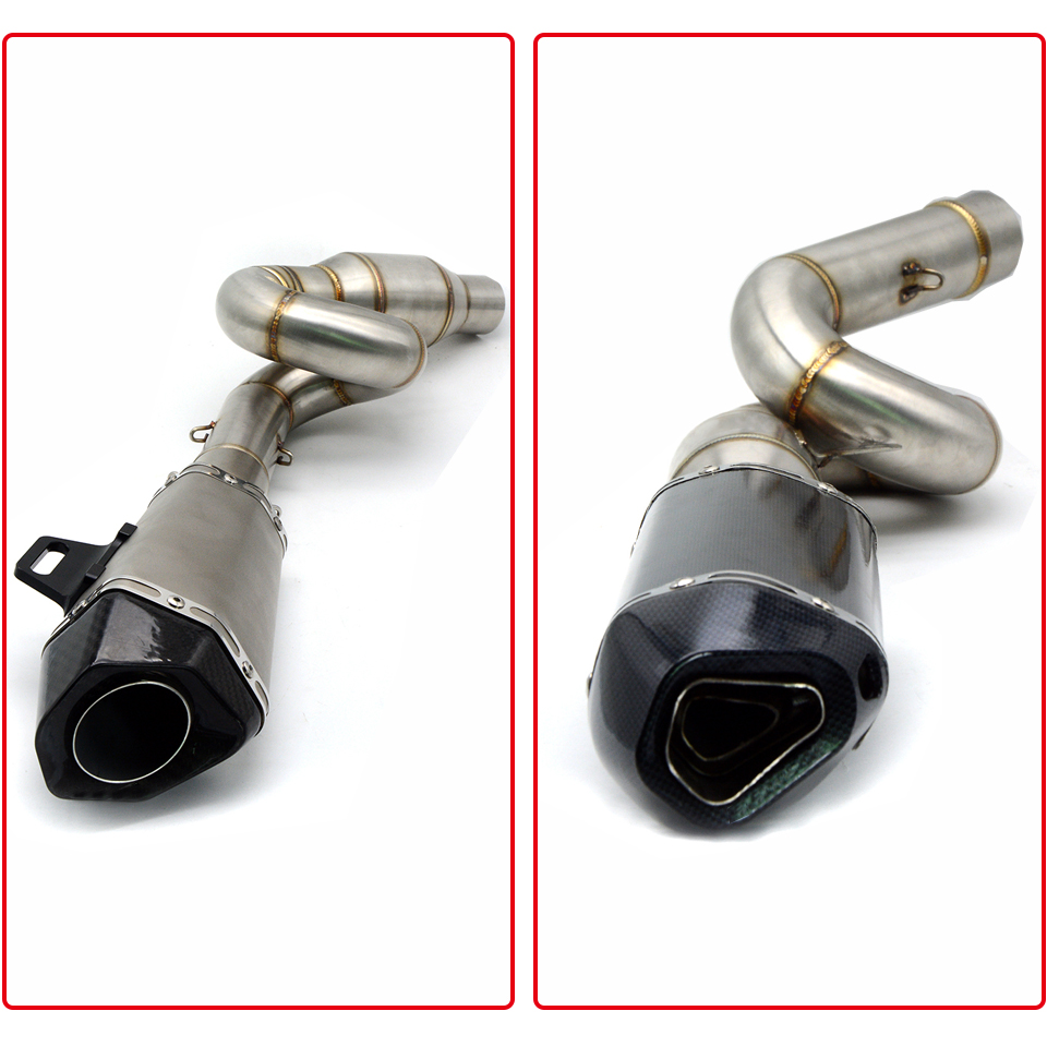 High Quality Motorcycle Exhaust Pipe Slip-On middle Pipe muffler Modified Clamp On Mid For Kawasaki Z800 2013 - 2017 Z 800 ZR800 motorcycle stainless slip on exhaust mid pipe for ktm 390 duke 2013 2014 2015 2016