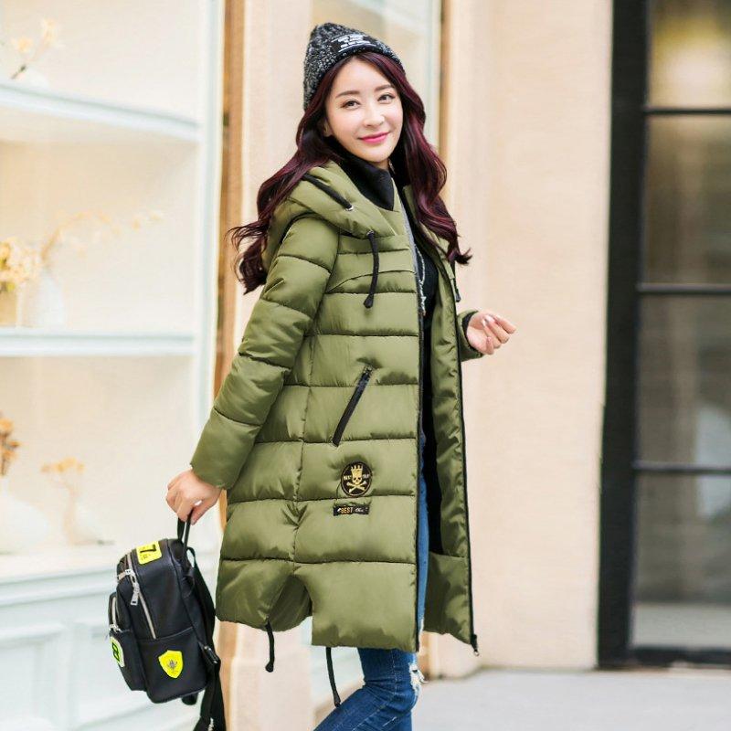 aa02b29a9 Fashion Women Thicken Warm Winter Coat Hooded Parka Overcoat Long Hoodie Jacket  Ladies Outwear Green Red Black-in Parkas from Women's Clothing on ...