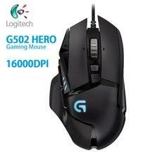 Logitech G502 גיבור משחקי ביצועים גבוהים עכבר מנוע עם 16,000 DPI לתכנות מתכונן LIGHTSYNC RGB עבור עכבר גיימר