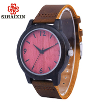 2017 Wooden Quartz Watch Men Watches With Bamboo Wood Leather Strap Luxury Brand Men S Clock
