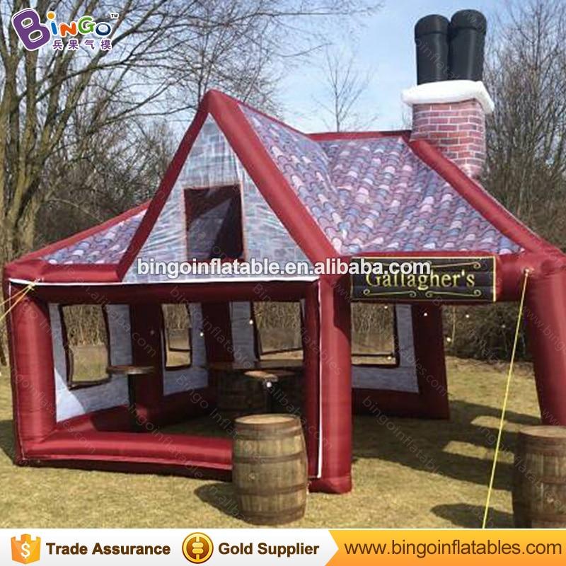 hot sale inflatable party pub house tent/party bar tent supplier 6x5x5m BG-A1246-2 toy tent