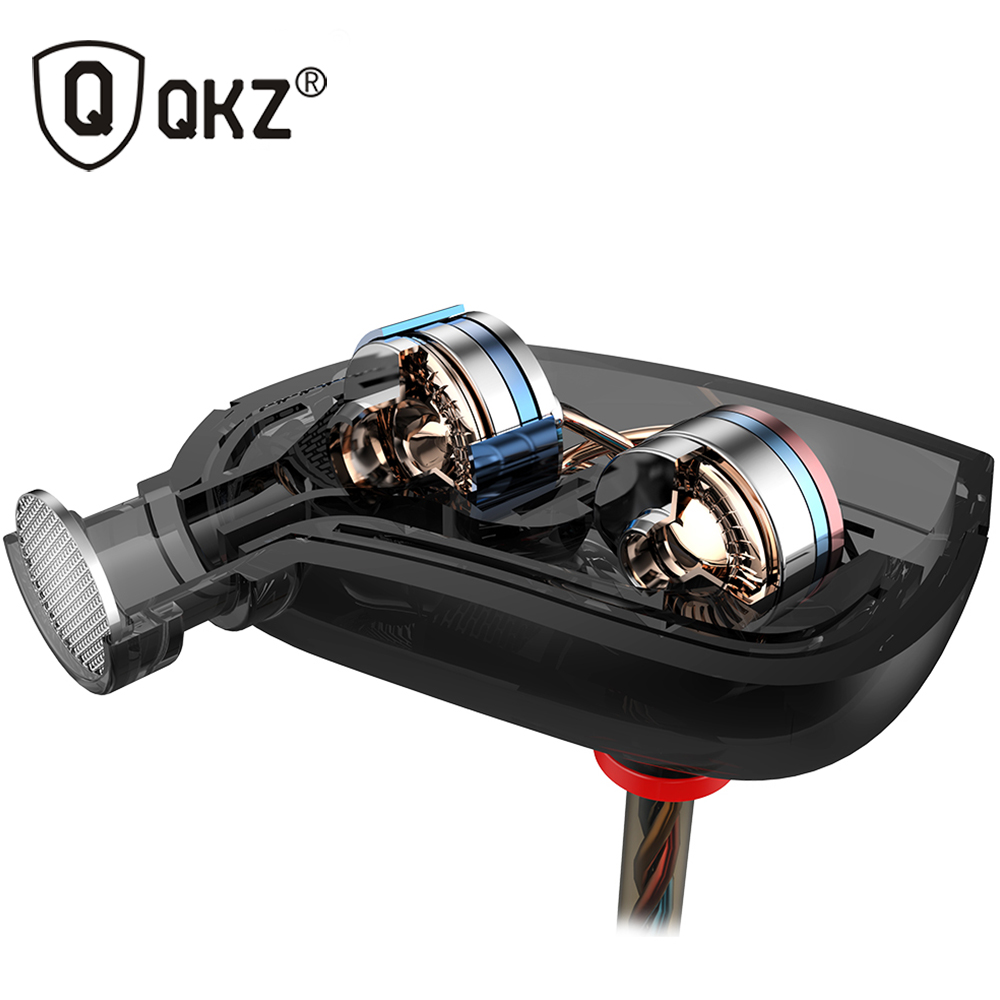 QKZ ZN1 Earphones Mini Dual Driver Extra Bass Turbo Wide Sound gaming headset mp3 DJ Field Headset fone de ouvido auriculares