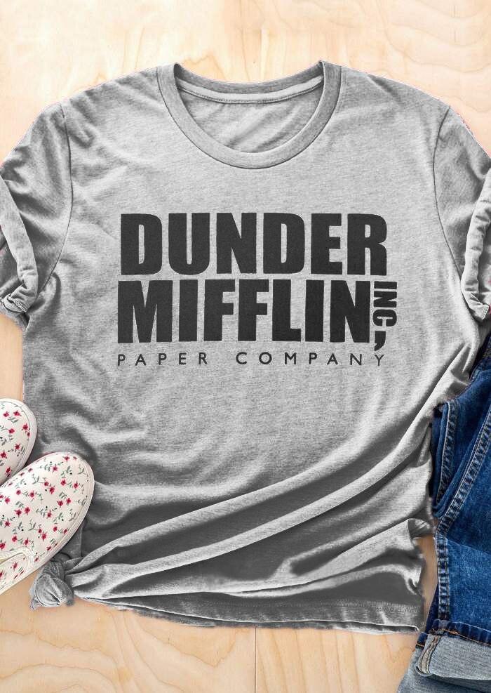 Dunder Mifflin Paper Company Aesthetic Kawaii Grunge Tees Popular