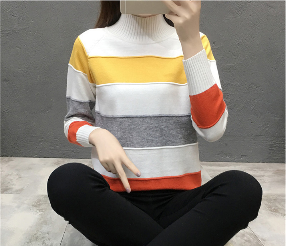 Flying ROC women sweater long sleeve O neck autumn winter sweater knitted femme tops women pullover sweaters women clothing in Pullovers from Women 39 s Clothing