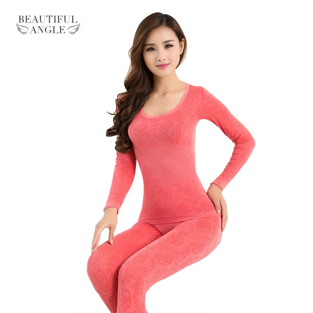 f503bb5bac New Arrival 2017 Sexy Ladies Thermal Underwears Seamless Antibacterial Warm  Long Johns Women Body Shaped Underwear Sets