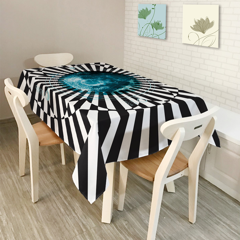 2017New American style Rural Zebra Stripe Simple modern Home decor Table Cloth Dining Tablecloth Coffee Restaurant Cloth Cover