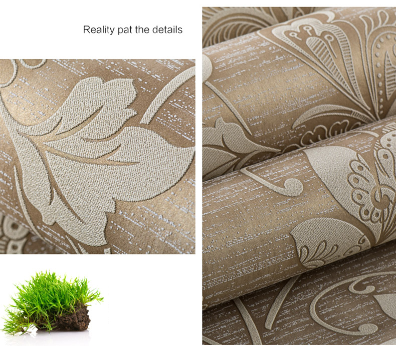 Luxury Italian Style Modern 3D Embossed Background Wallpaper For Living Room Bedroom Floral Wallpaper Roll Desktop Wall paper