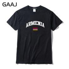 GAAJ Armenia Flag Men T Shirt Streetwear Short sleeve T-shirts For Man 3XL High Quality Fashion Male 100% Cotton Summer  #36YB9