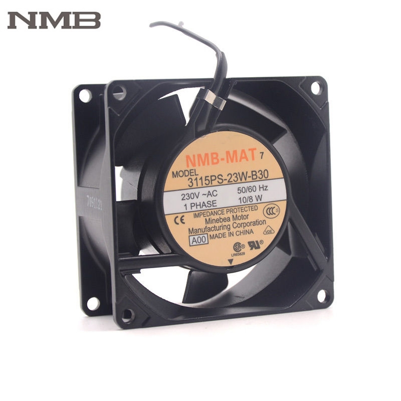 NMB 3115PS-23W-B30 8038 230V 8cm chassis case cooling fan 80*80*38mm new original 3115ps 23t b30 230v 8 10w 8038 aluminum frame axial fan