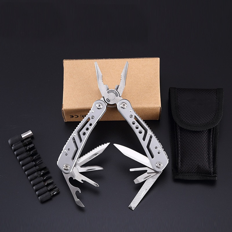 Cool Men Camping Equipment Multifunction Hand Tool Pliers Outdoor Survival Gear Knife Saw Screwdriver EDC Stainless Steel Plier