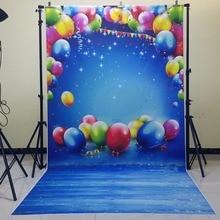 Фестиваль Balloon фоны для фото тонкий винил новорожденный фон для дня рождения фотографии фоном D-9944