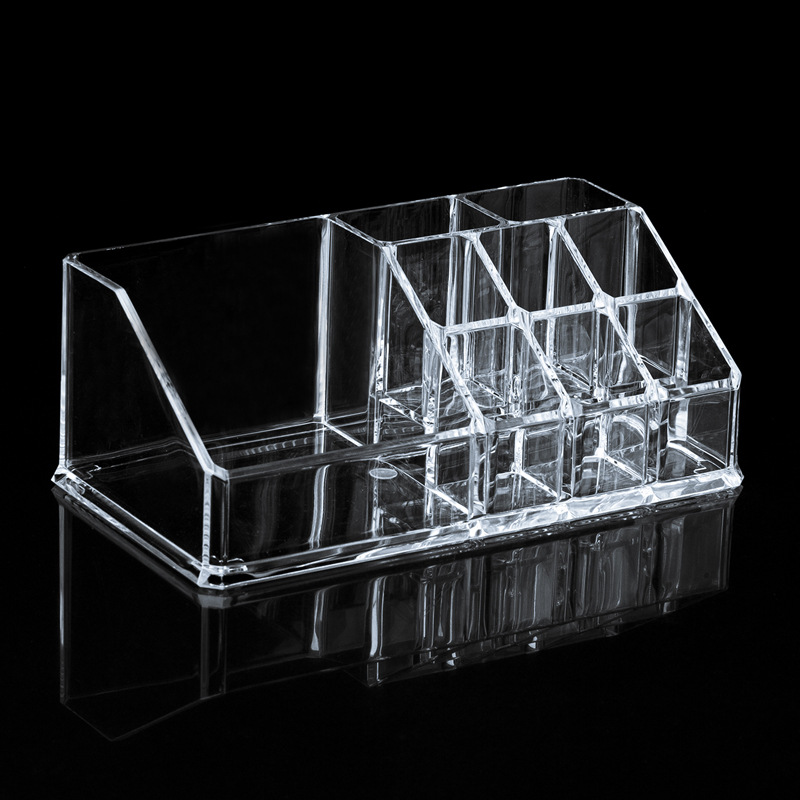 Free Shipping Brand New 9 Compartments Transparent Drawers Storage