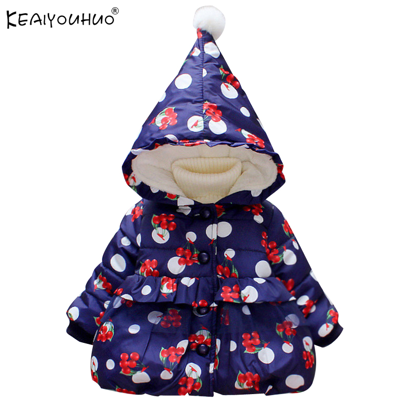 KEAIYOUHUO 2017 Children Winter Down Jackets For Girls Long Sleeve Fashion Baby Girl Coats Cotton Warm Coat For Kids Outerwear fashion girl thicken snowsuit winter jackets for girls children down coats outerwear warm hooded clothes big kids clothing gh236