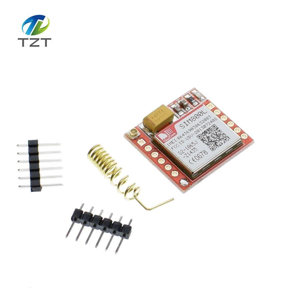 1 pz Più Piccolo SIM800L GSM GPRS Modulo Bordo di Centro di Carta di MicroSIM Quad-band TTL Porta Seriale