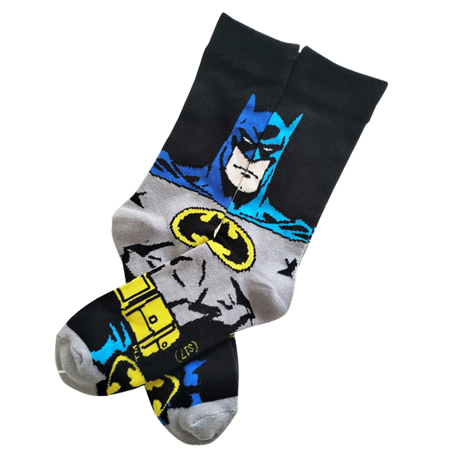 The Avengers batman Iron man Socks Street Cosplay Cotton Comics Women Men Crew Socks Party Novelty Funny Party halloween socks