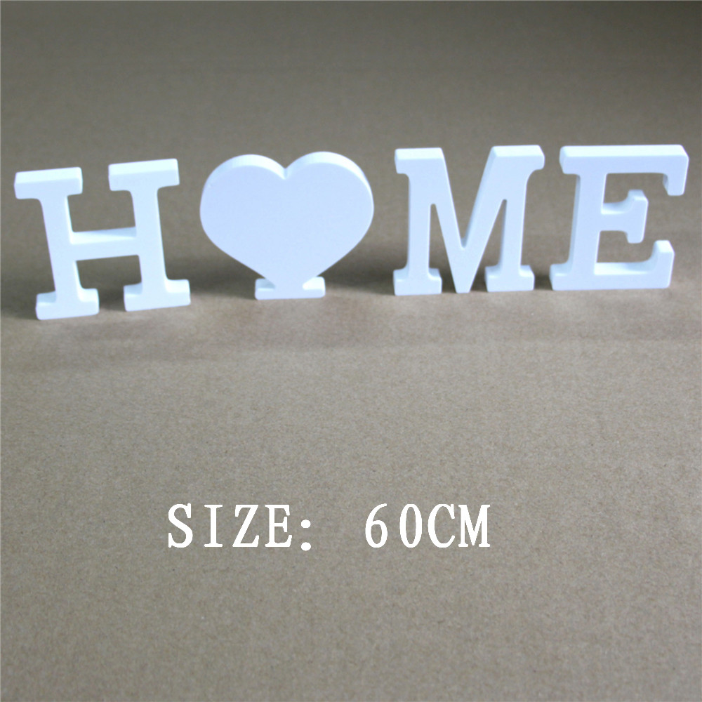 Us 5171 36 Offfree Standing Artificial Wood Wooden Letters 60cm White Alphabet For Home Wedding Photo Props Birthday Party Gifts Name Letters In