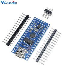 ATmega168-microcontrolador CH340 CH340G Nano V3.0 3,0, placa Mini USB UART, 16Mhz, 3,3 V, 5V, Módulo para Arduino