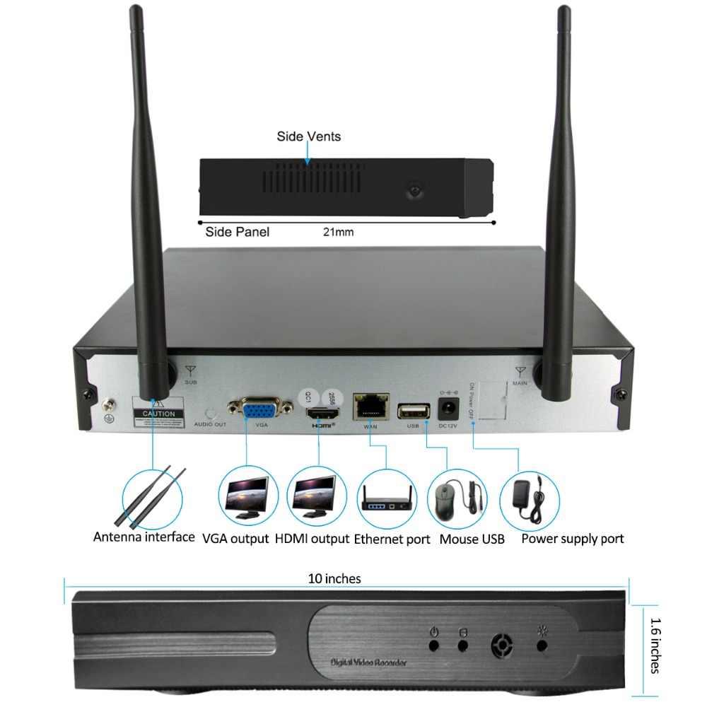 8CH 720P Аудио FHD Беспроводной NVR комплект P2P 720P Крытый Открытый ИК ночного видения безопасности 1.0MP аудио IP камера wifi CCTV система