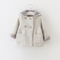 Girls Wool Winter Coat Girls Winter Coats Newborn Clothing Simply Style Solid Colour Girls Outerwear