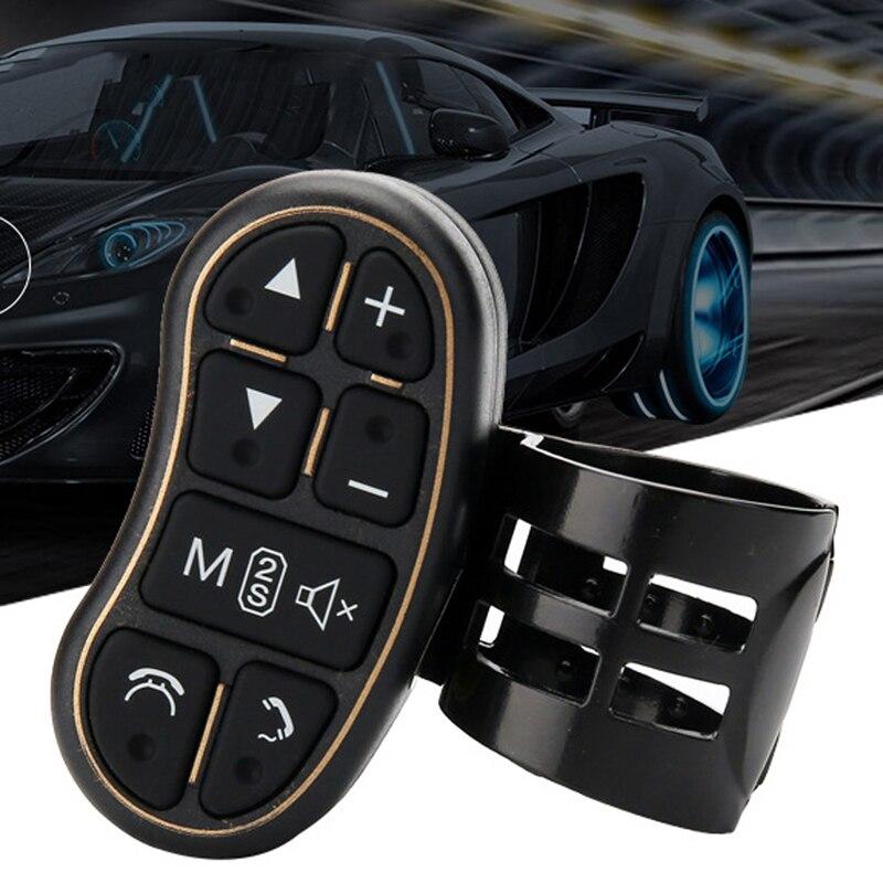 Estilo de coche controlador para volante Universal con control de volumen de audio bluetooth para DVD GPS Unidad radio accesorios de coche