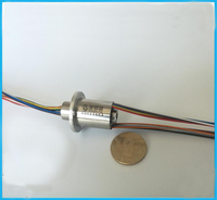 Electric Brush Thin Wall Conductive Slipring 2A 6 12 18 Channel Slip Ring Out Dia 16