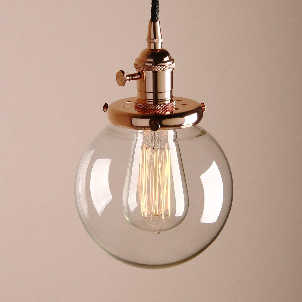 Permo 5 9 quot Vintage Glass Globe Pendant Lights Modern Pendant Lamps Retro Hanglamp Indoor Stairs Loft Lighting Christmas Decor in Pendant Lights from Lights amp Lighting