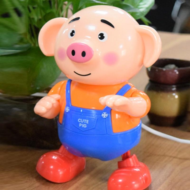 Electric Pig Dancing Music Walking Toy Singing Musical Lighting For Children Kid