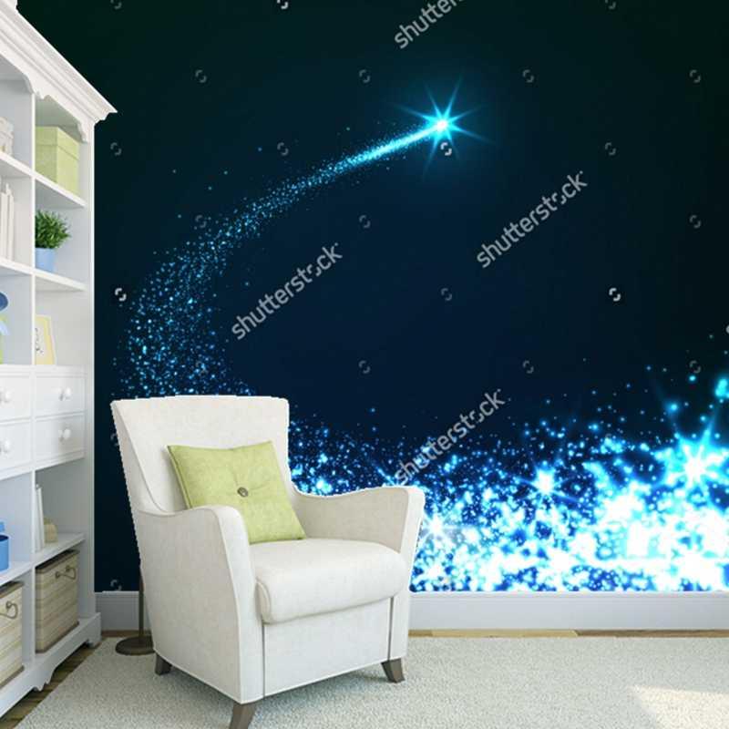 Cosmic Star Nebula Tapete Helle Falling Star 3d Naturlichen Landschaft Fur Wohnzimmer Decke Wand Wasserdichte Tapete Aliexpress