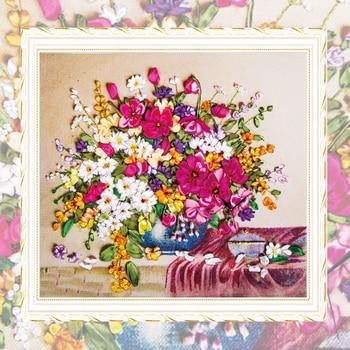 çapraz Dikiş Nakış şerit Nakış Kitleri çiçek Vazo Desen Iğne