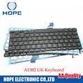 New UK Keyboard For Apple Macbook Pro Retina 13'' A1502 UK Keyboard With Backlight 2013 2014 2015