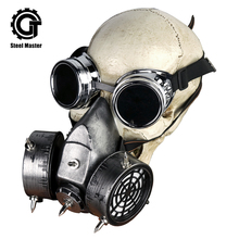 Gothic Rock Glasses Respirator Clothing Accessories Retro Men's Women Silver Punk