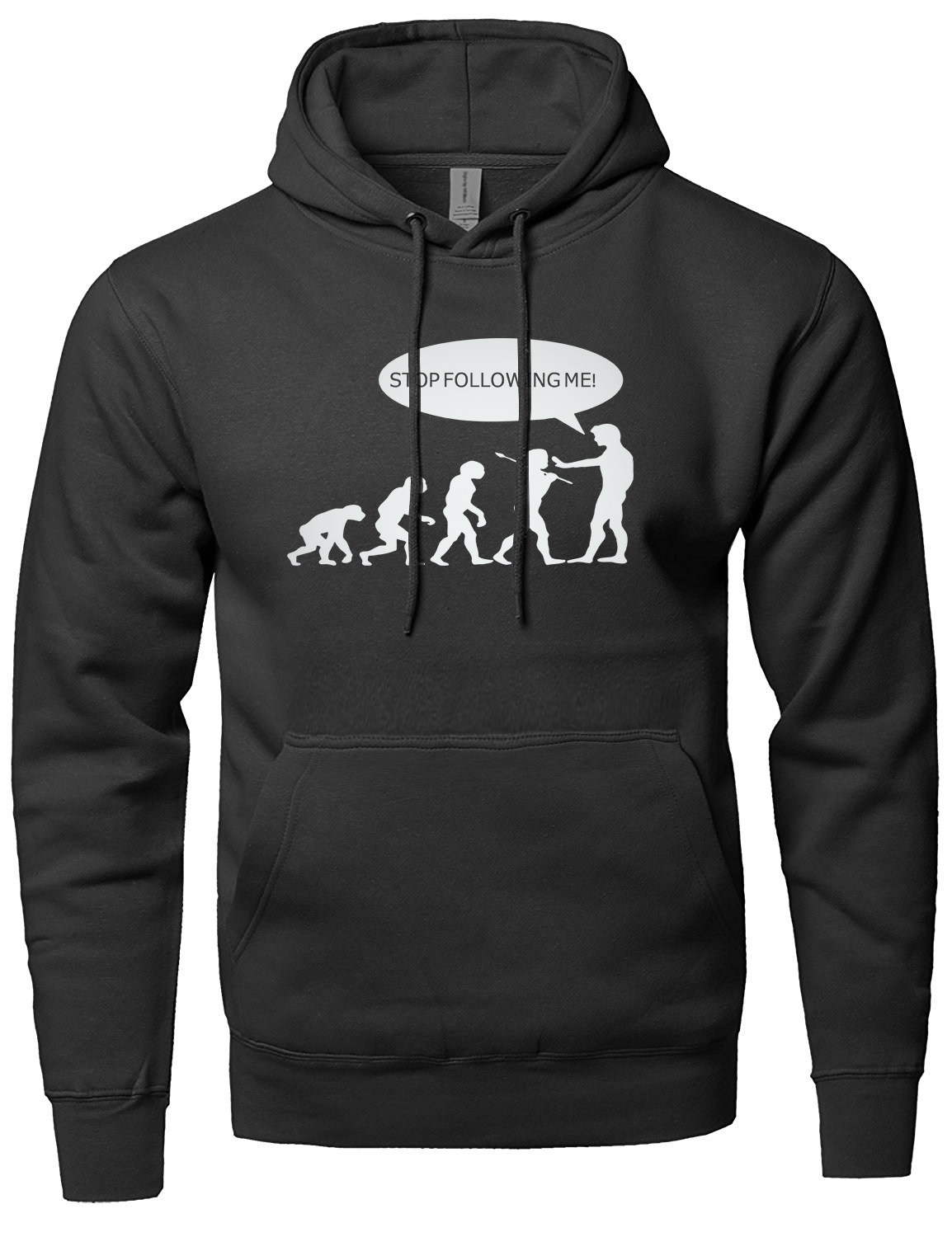 Stop Following Me Caveman funny men sweatshirts Caveman Evolution Hoodies Men 2018 spring winter new fleece high quality hoodie