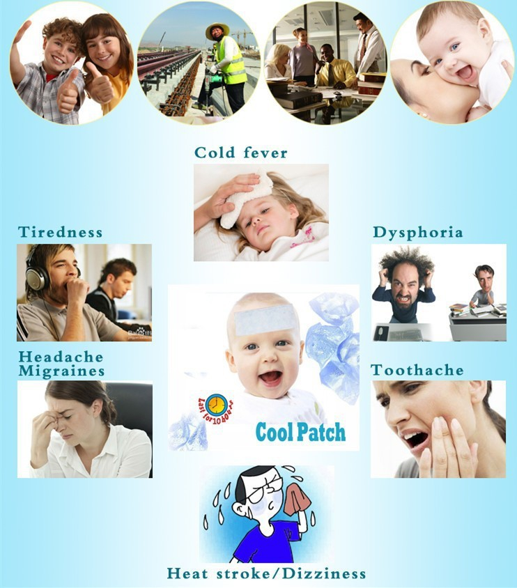15pcs Medical Grade Hydrogel Multifunctional Forehead Cooling Patch of Fever Reducing Cooling Gel Patch For Children Adult