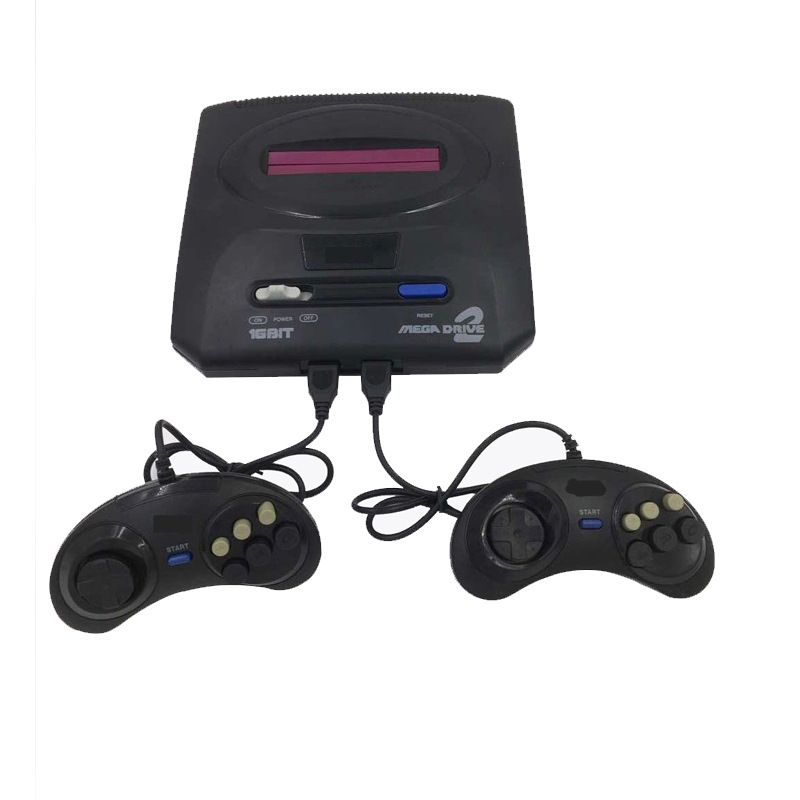 New Retro 16 Bits MD Home Video Game Console Card Double Game Console With Wired Gamepad EU Plug