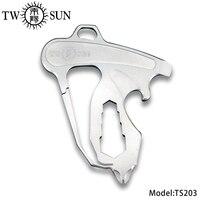 TWOSUN TC4 Titan Werkzeug Multi Outdoor Survival tool camping Opener Schraubendreher Spanner EDC Keychain Flasche Opener TS203-in Handwerkzeug-Sets aus Werkzeug bei
