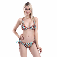New Sexy Wild Leopard Print Bikini Women Swimsuit Strappy Bathing Suit S-L Girl Cross Bandage Swimwear 2 Piece Micro Bikini Set