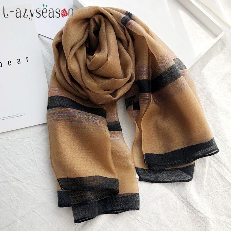 Luxury Brand Hijab Winter Scarf,gold Line Cotton Muslim Scarf Women,Soft Pashminas,shawls And Wraps,Sjaal Muslim Hijab,cape