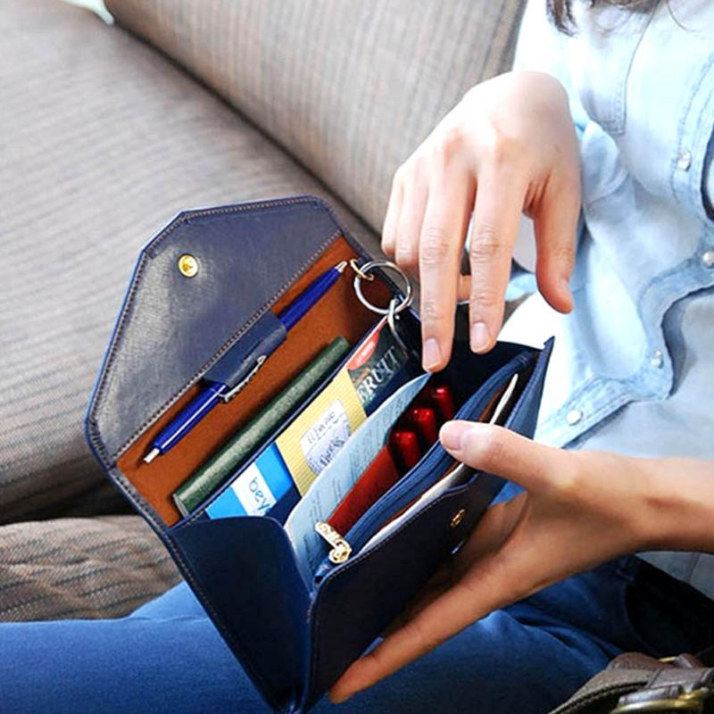 On Selling!  Carteras Mujer Leather Credit Card Wallet Designer Mobile Phone Handbags Passport Checkbook Wallets