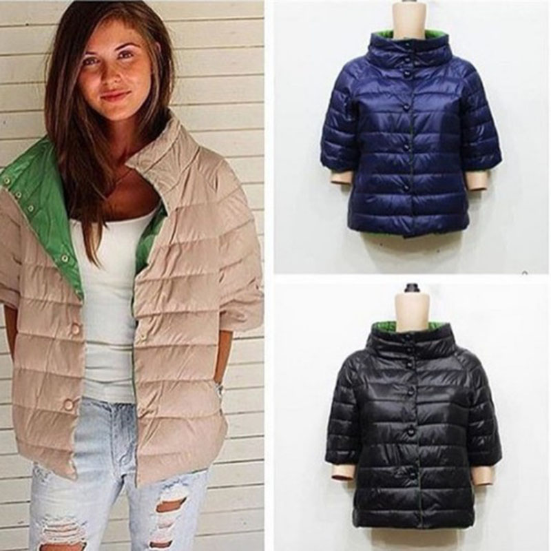 d1a68596a Winter brand plus Cotton short sleeve Coat Women stand collor warm ...