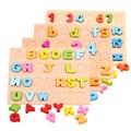 Детские игрушки Деревянные головоломки 3D игрушки Английский алфавит цифровой Монтессори образование игрушки детские подарок на день рождения бесплатная доставка
