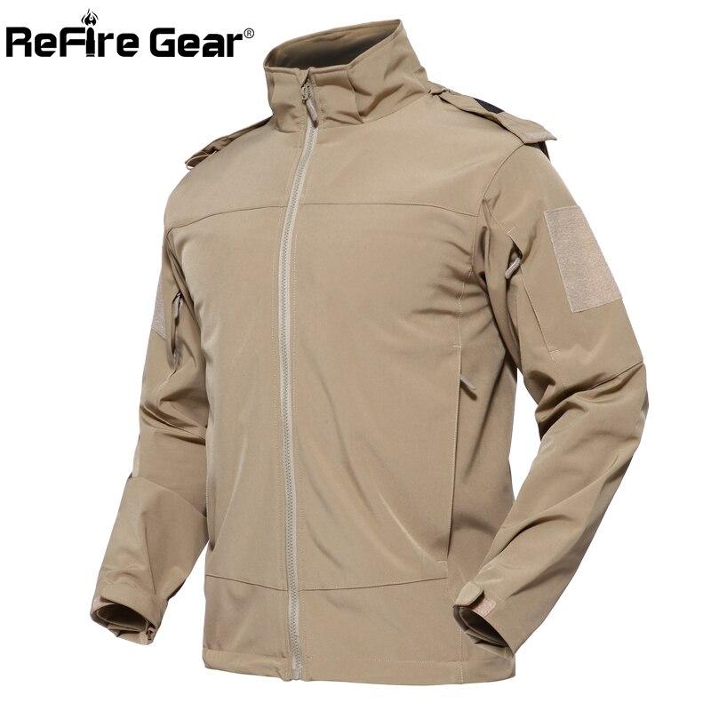 ReFire Gear Urban ยุทธวิธีกันน้ำแจ็คเก็ตชายฤดูใบไม้ร่วง Windproof Softshell Hoodie เสื้อกันหนาว SWAT Secret เสื้อทหาร-ใน แจ็กเก็ต จาก เสื้อผ้าผู้ชาย บน   3