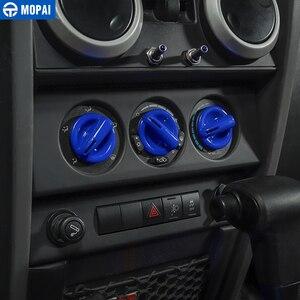 Image 2 - Samochód MOPAI centralna nawigacja klimatyzacja zestaw dekoracyjny pokrywa naklejki akcesoria dla Jeep Wrangler JK 2007 2008 2009 2010