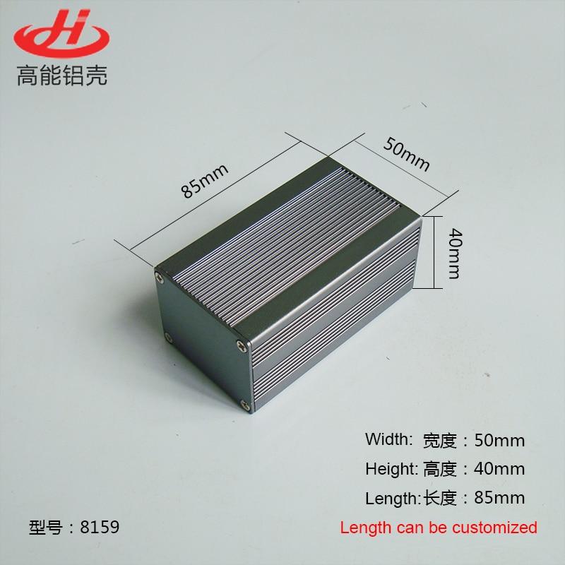 Aluminum Enclosure Box PCB Instrument Box DIY Electronic Project Case 50mm*40mm*85mm 8159Aluminum Enclosure Box PCB Instrument Box DIY Electronic Project Case 50mm*40mm*85mm 8159