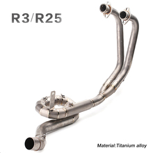 50.8MM Full Connecting Pipe Link Titanium alloy Silencer System for Yamaha R25 R3