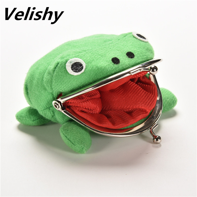 1PC Hot Selling Frog Wallet Anime Cartoon Wallet Coin Purse Manga Flannel Wallet Cute Purse Naruto Coin Holder