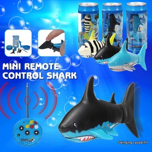 Mini Drink Can Radio Remote Control Shark RC Usb Rechargeable Super Shark fish Submarine Boat Underwater toy For Kids Gift