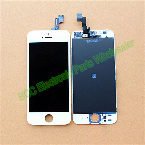 ФОТО 2PCS/Lot 100% Guarantee Original & New AAA quality For iPhone 5S Black White LCD Display + Touch Screen Digitizer + frame