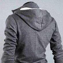 2017 New Men's Fashion Winter Slim Hoodie Warm Hooded Sweatshirt Coat Jacket Outwear